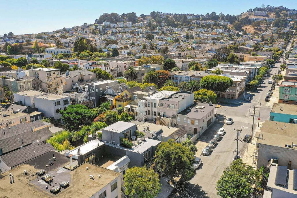 Aerial View of 33 Day Street in San Francisco
