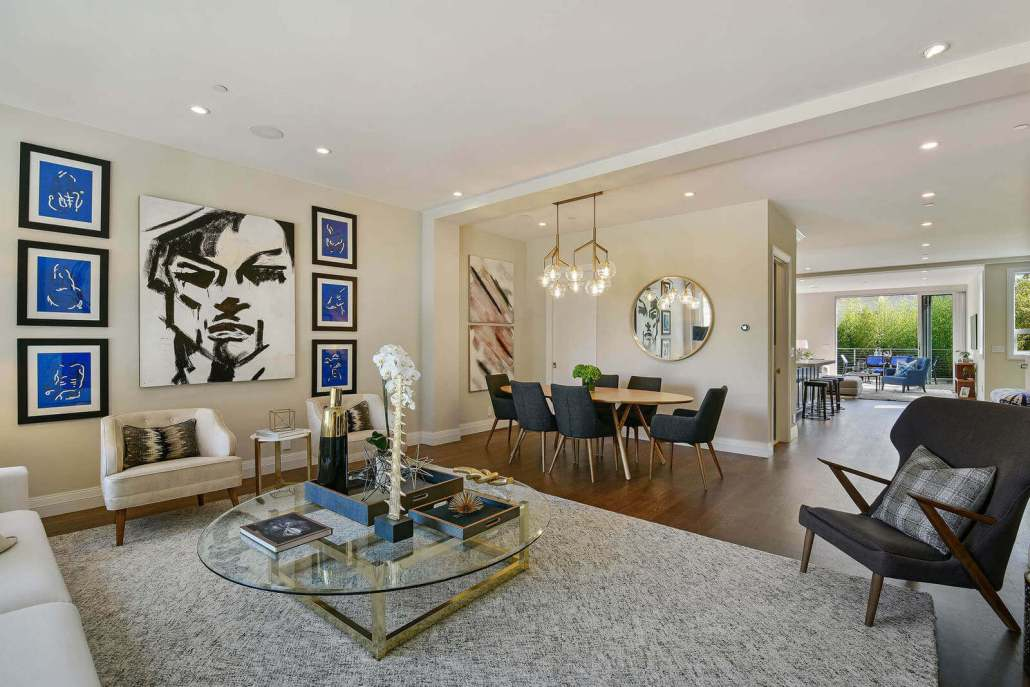 Open floor plan modern home