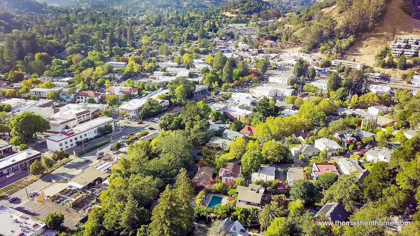 Aerial View of San Anselmo, California