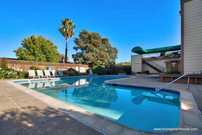 Swimming Pool at Green Oaks, San Rafael California