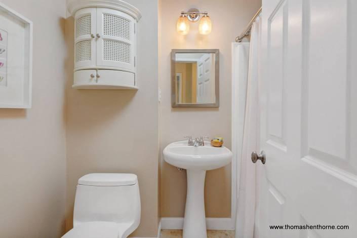Bathroom with pedestal sink