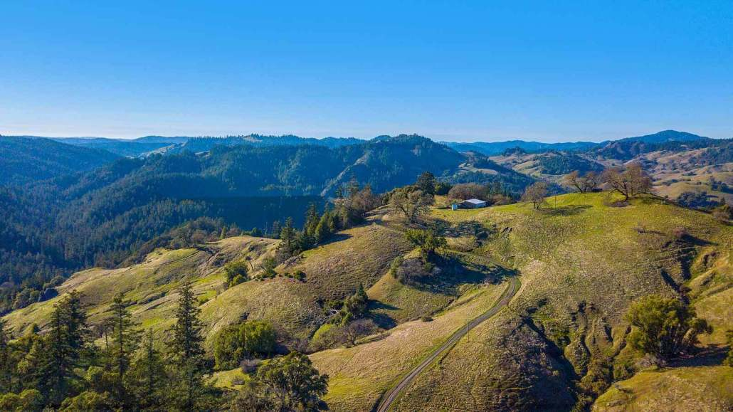 Longview Ranch in Ukiah California Aerial