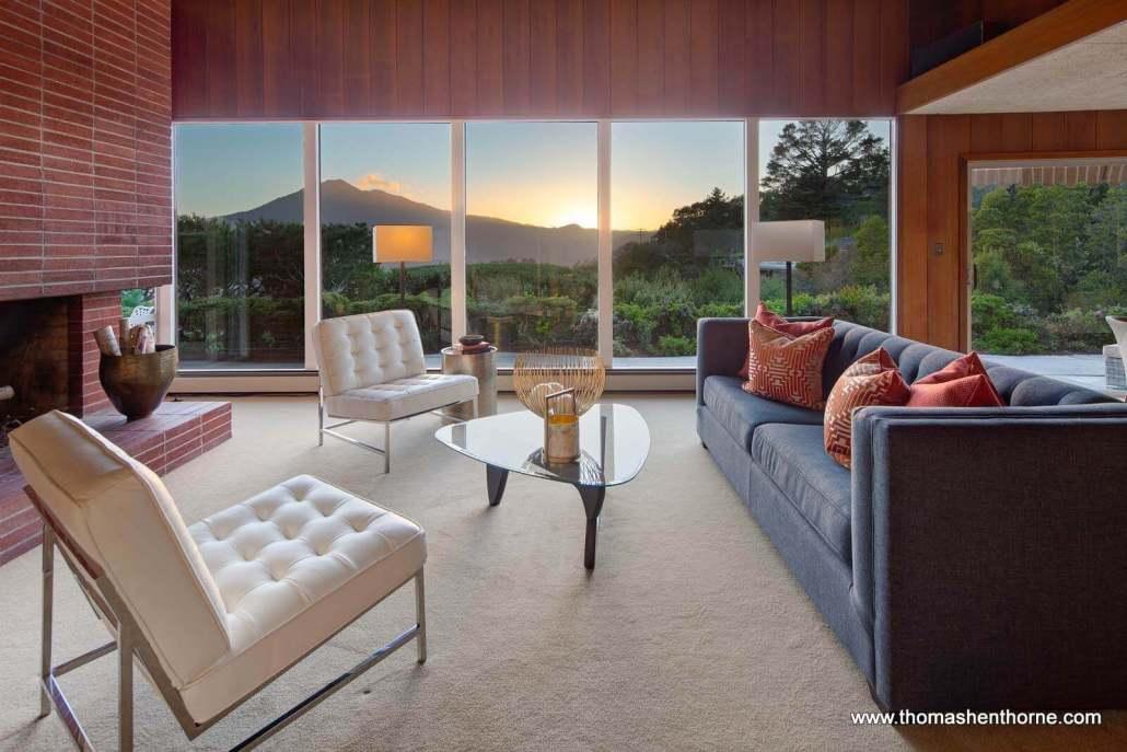 145 Bret Harte Road San Rafael Living Room