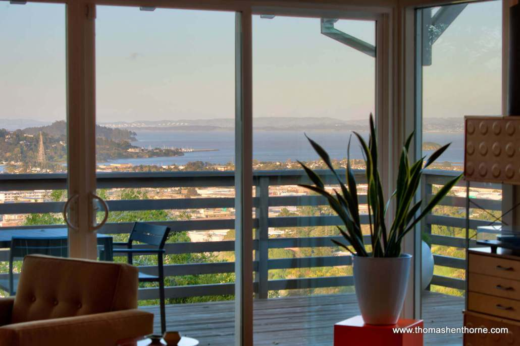 View of the bay from 466 Bret Harte in San Rafael