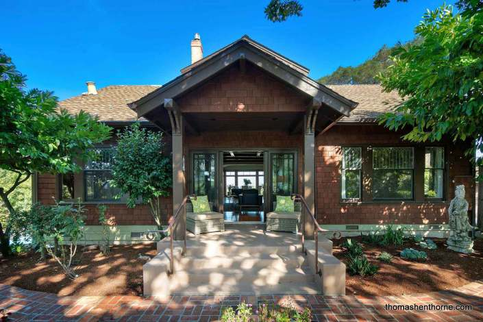 Front exterior of historic Craftsman home in San Rafael California