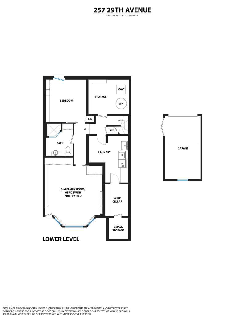 Floorplan lower level 257 29th Avenue