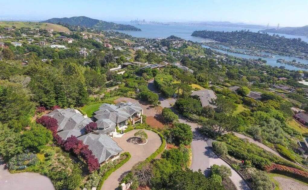 102 Mount Tiburon Road Tiburon California aerial view