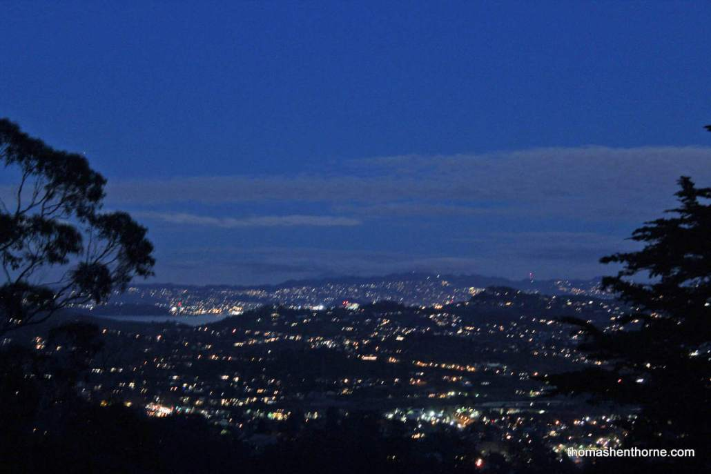 City lights of Mill Valley