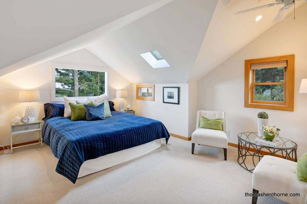 Master bedroom at 125 Bayview Drive in Mill Valley