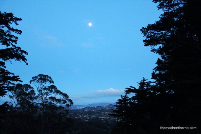 Full moon in Mill Valley, California