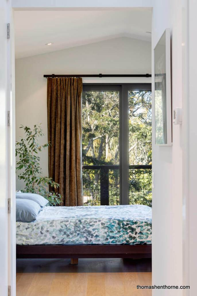Master bedroom with sliding glass door