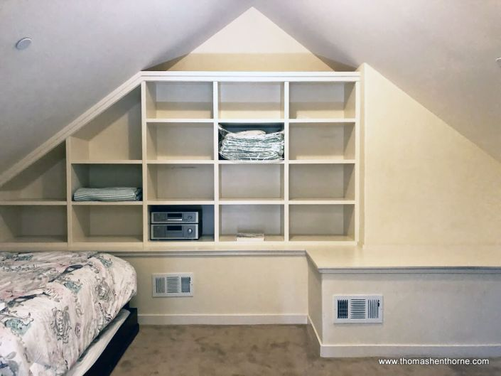 Room with shelves