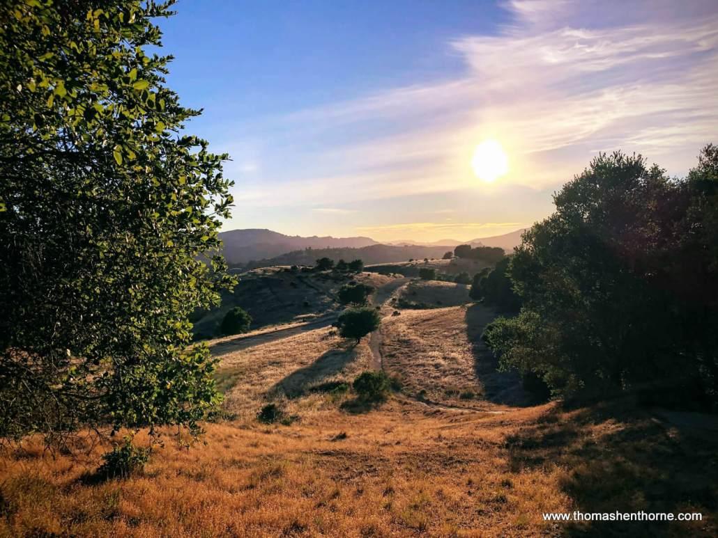 Ridgewood Trail in San Rafael sunset