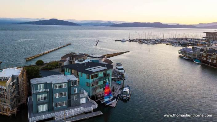 waterfront homes and marina