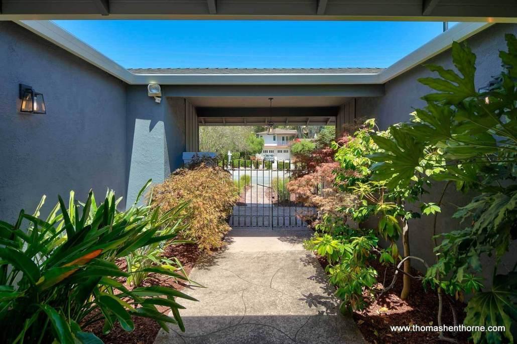 Entry Gate to 1753 Las Gallinas Avenue in San Rafael