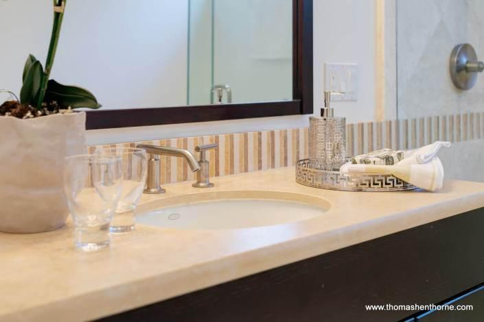 close up of master bathroom vanity