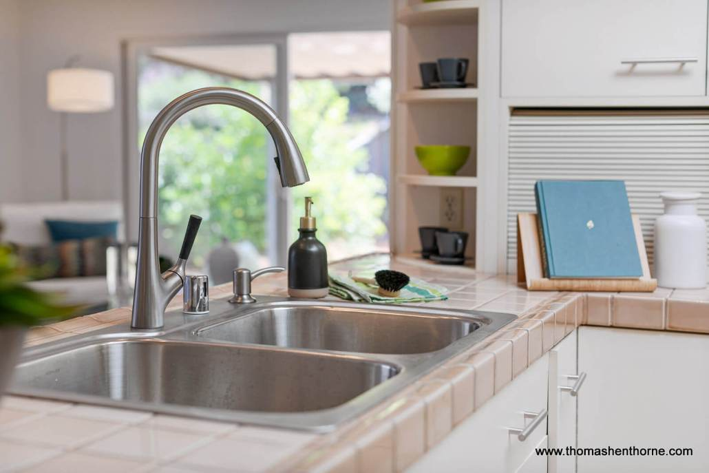 stainless kitchen faucet