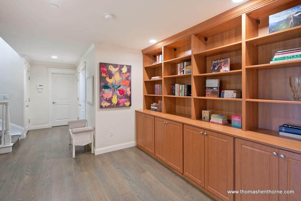 built in cabinets in hallway