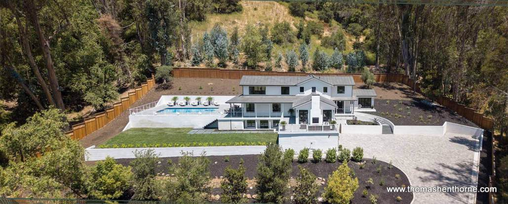 aerial view of 61 Gold Hill Grade in San Rafael California