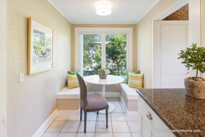 Kitchen with banquette