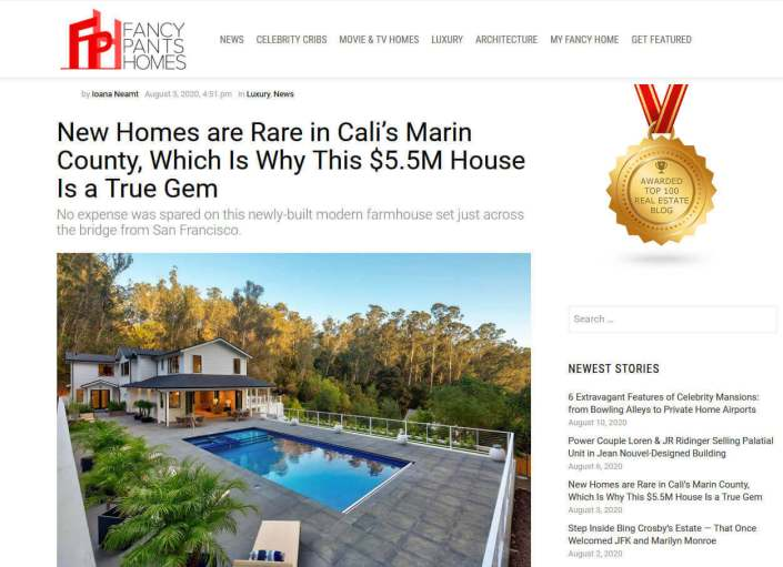 61 Gold Hill Grade article in Fancy Pants Homes Blog