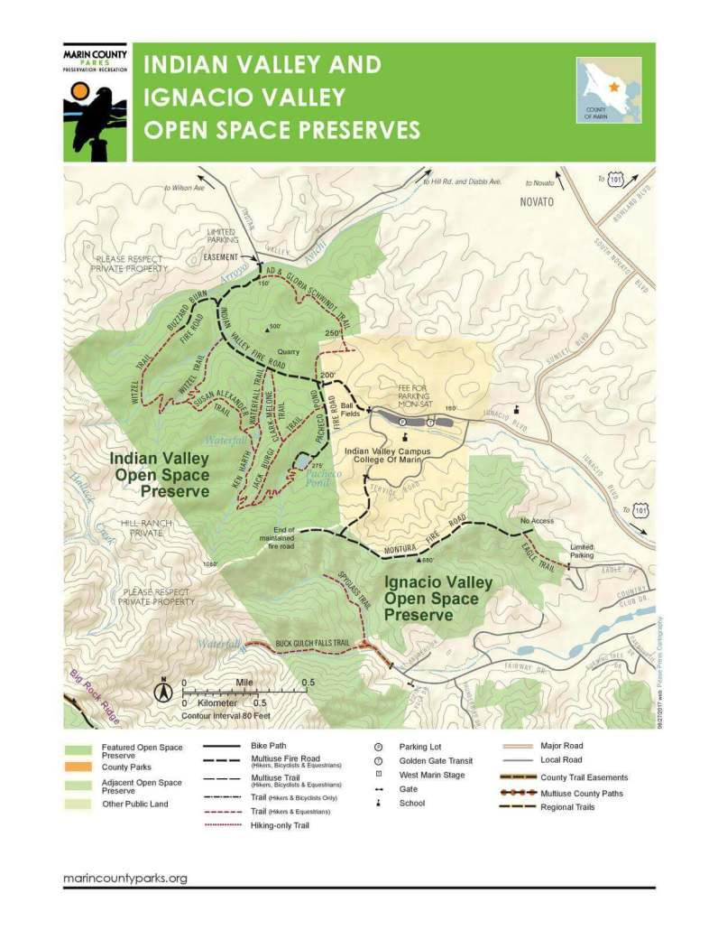 Ignacio Valley Open Space map