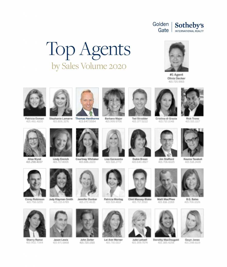 Marin county top real estate agent Thomas Henthorne