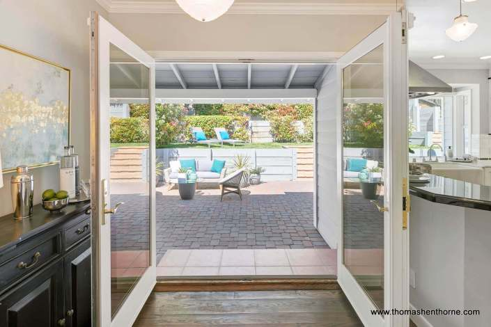 open french doors to patio