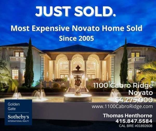 1100 Cabro Ridge Novato just sold