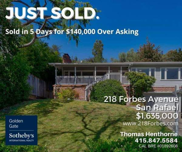 218 Forbes Ave San Rafael just sold