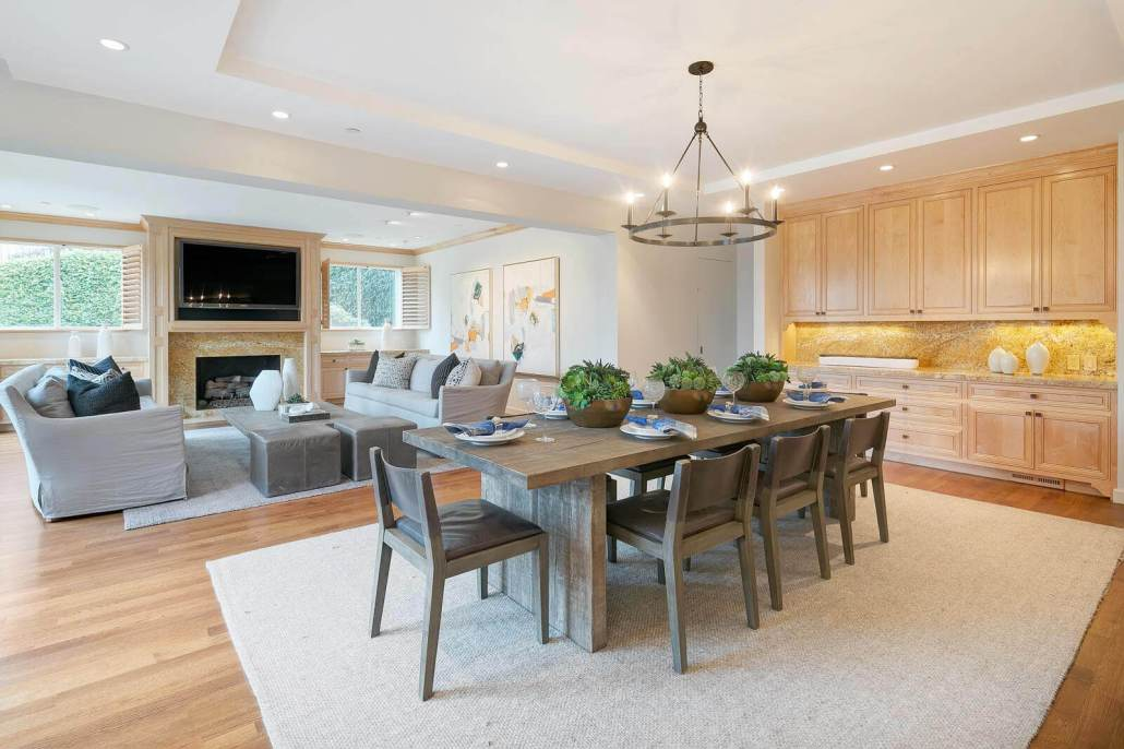 open dining and living room