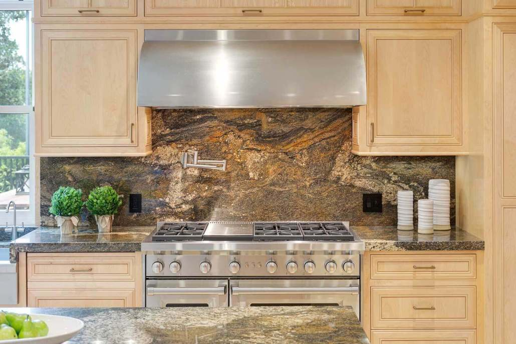 Wolf range with stainless hood