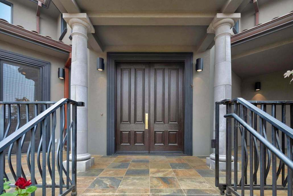 front entry dual doors