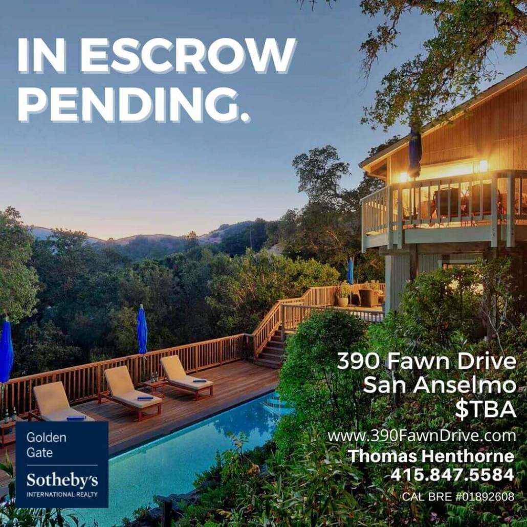390 Fawn Drive in escrow pending graphic