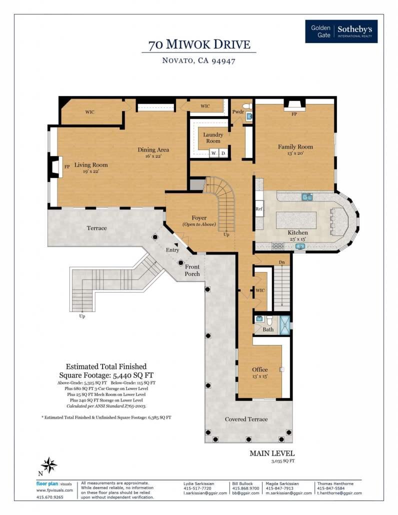 70 Miwok Drive Novato floorplan main level