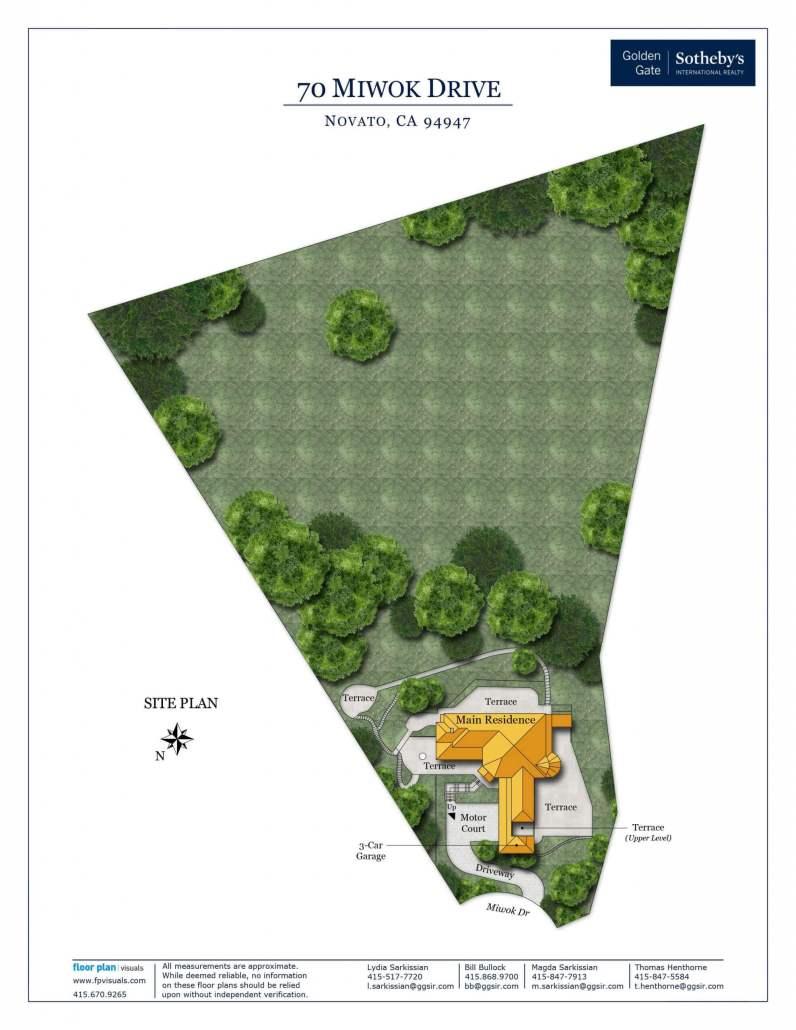 70 Miwok Drive Novato site plan