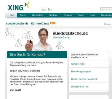 Xing-Applikation sueddeutsche 1