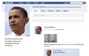 Facebook-Profil Barack Obama
