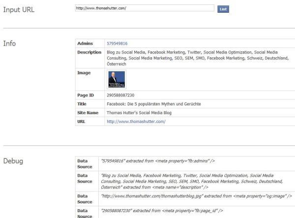 Facebook URL Linter Tool