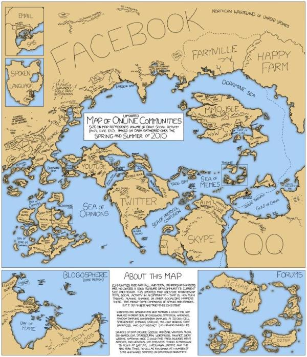 Map of Online Communites by xkcd.com