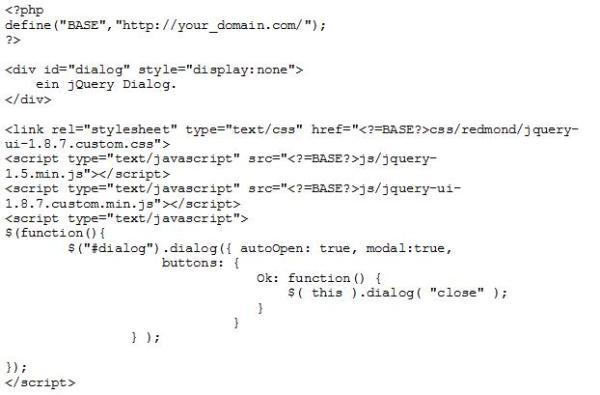 Code Snippet 2: JavaScript Integration