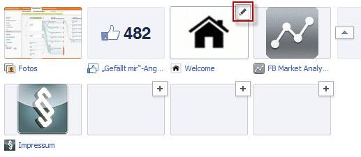 Bearbeiten Icon erscheint bei Mouseover