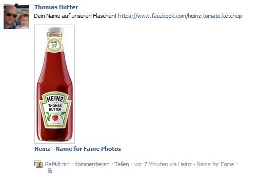 "Heinz ""Name for Fame"" - automatische Pinnwandpublikation"