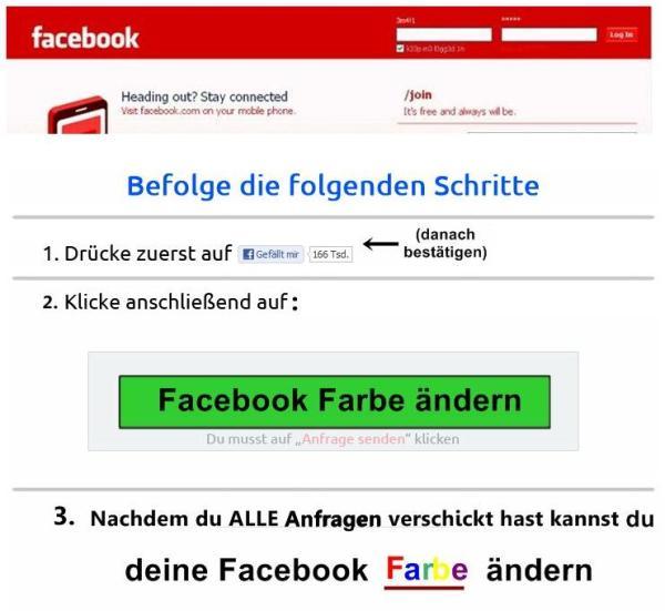 Facebook in Deiner Lieblingsfarbe