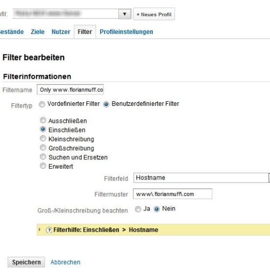 Nach Subdomain bzw. Hostname filtern