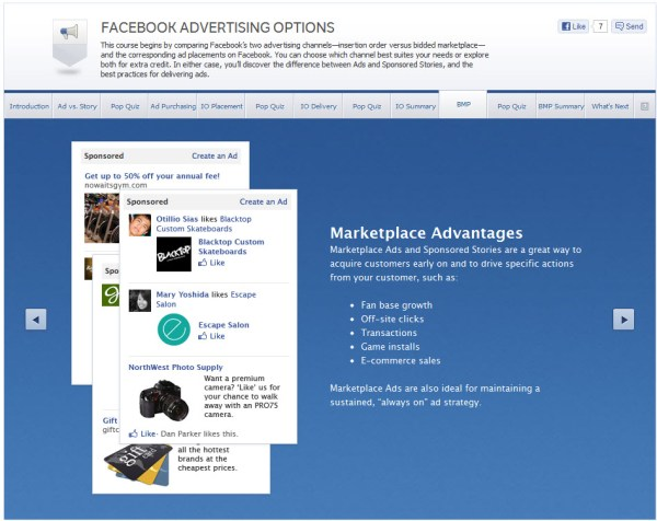 Facebook Advertising Options - BMP