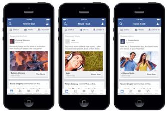 Beispiele für Mobile App Ads für Engagement und Conversion (Quelle: Facebook)