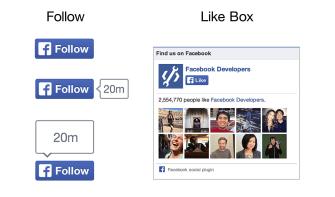 Follow-Button und Like-Box im neuen Design (Quelle: Facebook)