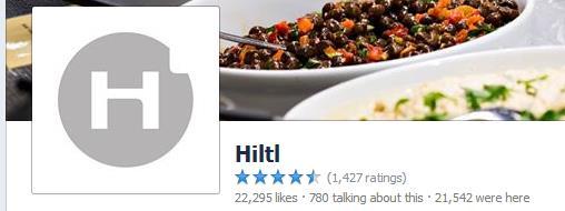 Facebook Seite von Hiltl Zürich