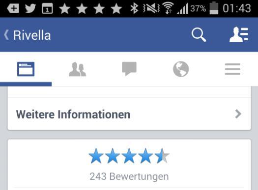 Anzeige der Bewertungen in der Android App